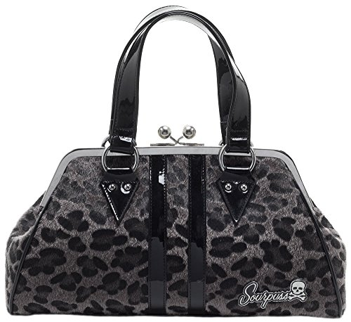 Sourpuss Temptress Gray Leopard Purse (Sourpuss Handbags)