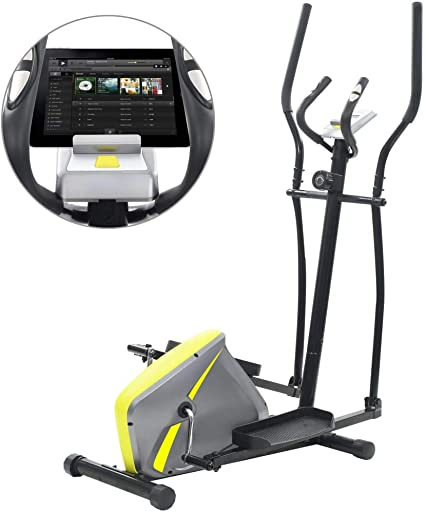 mewmewcat Bicicleta Elíptica Multifunción con Pantalla LCD y un ...