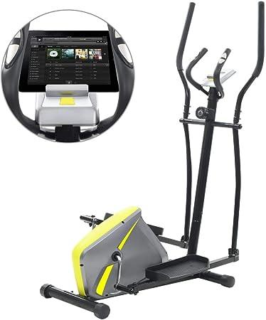 Festnight Bicicleta Elíptica Multifunción con Pantalla LCD y un ...