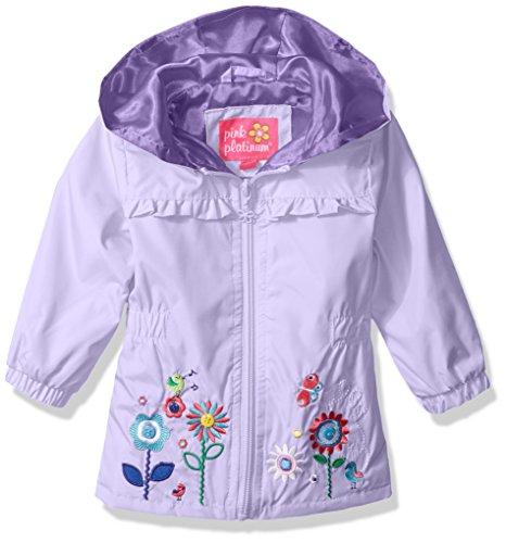 Pink Platinum Baby Girls Garden Applique Windbreaker, Lilac, 18M