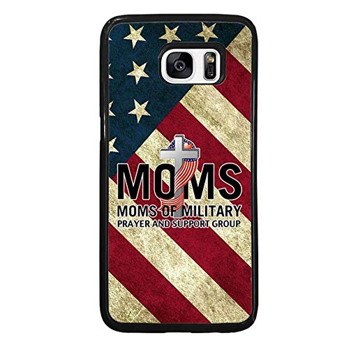 Skinsends Cute Military Mom Prayer US Flag Back Cover Compatible with Galaxy S7 Edge, Hard Plastic Phone Cover Compatible with Samsung Galaxy S7 Edge ()