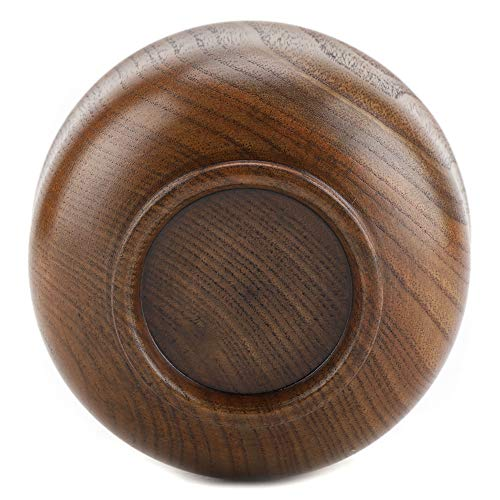 Wooden Bowl, Child Kid Wooden Handmade Bowl Food Container Heat-Resistant Tableware Soup Bowl Fruit Bowl by GLOGLOW (Image #3)