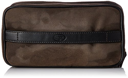 Fossil Double Zip Shave Kit, Dark Brown, One Size
