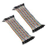 2x 40pcs Female to Female 2.54mm 0.1 in Jumper Wires F/F (2x40pcs)