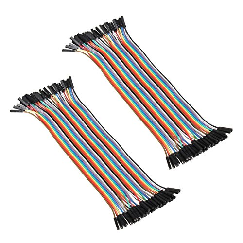 2x 40pcs Female to Female 2.54mm 0.1 in Jumper Wires F/F (2x40pcs)