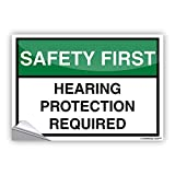 Leiacikl22 Decibel Meter Sticker Safety First Hearing Protection R, 14'' x 10'' Inches