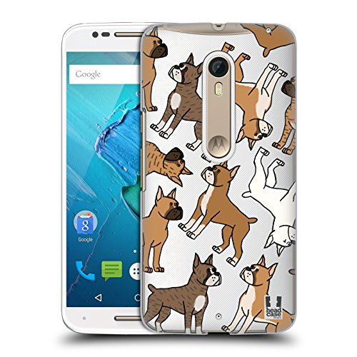- Head Case Designs Boxer Dog Breed Patterns 3 Hard Back Case for Motorola Moto X Style / Pure