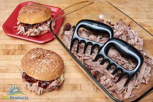 Bear Claw Meat Shredders by EG Products, TOUGHEST BBQ MEAT FORKS, Pulled Pork Meat Shredder, Dishwasher Safe, BBQ Tool, BPA FREE Set of 2.
