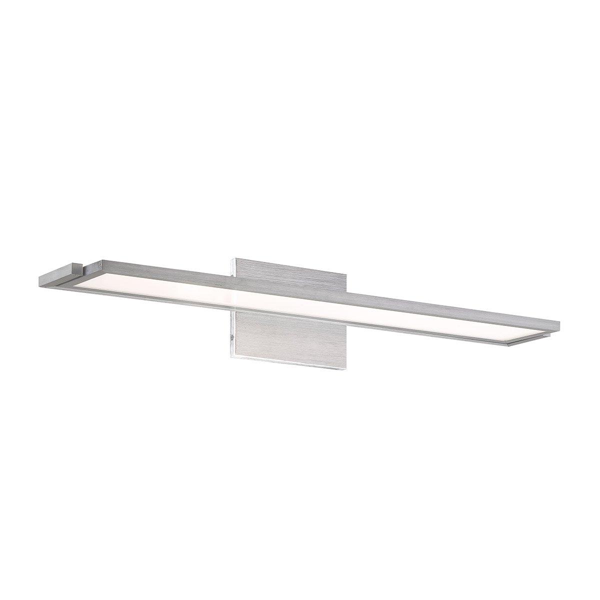 WAC Lighting WS-6724-30-AL Line 24'' LED Soft Bath & Wall Light Fixture, Medium, White/Brushed Aluminum