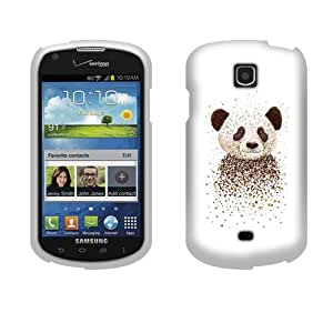 Fincibo (TM) Protector Cover Case Snap On Hard Plastic Front And Back For Samsung Galaxy Stellar Jasper I200 - Panda Portrait