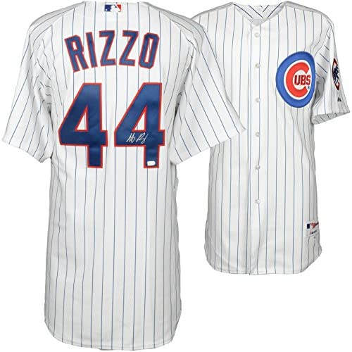 size 40 fbf94 75a53 Anthony Rizzo Chicago Cubs Autographed White Authentic ...