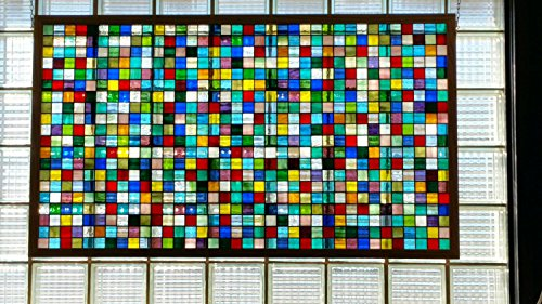 Stained glass hanging panel -