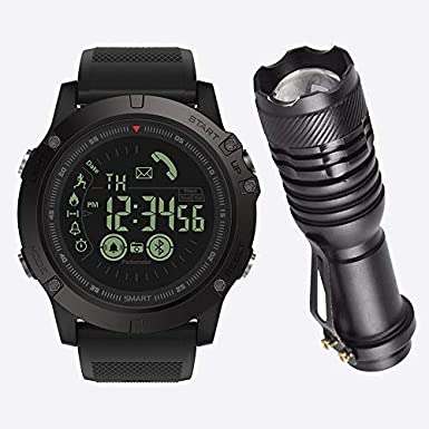 Amazon.com: SBSUN Tactical SmartWatch in Black - Android ...