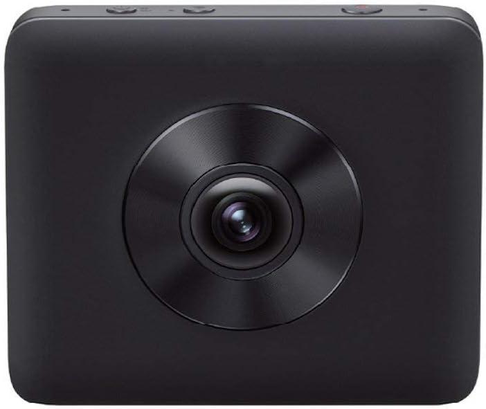 Xiaomi Mi Sphere Camera Kit - Cámara Deportiva panorámica 360° (3.5K a 30 fps, 2 Lentes Ojo de pez Gran Angular de 190°, Apertura F2.0, estabilizador electrónico de 6 Ejes, Fotos de 23,88 MP), Negro