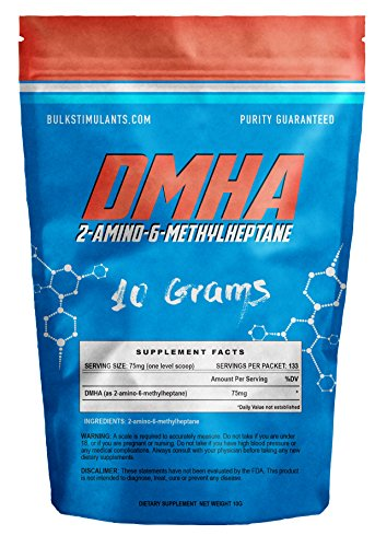 DMHA Bulk Powder (2-aminoisoheptane) 100% Pure - 133 Servings 10 grams ✮ NEW STIMULANT and POWERFUL NOOTROPIC ✮ Increase Focus Endurance and Energy - Popular Appetite Suppressant Fat Burner Ingredient