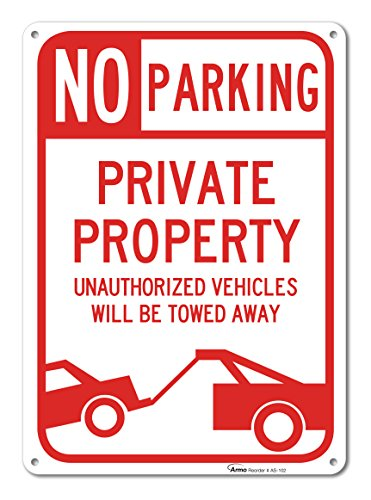 No Parking Sign Property Unauthorized product image