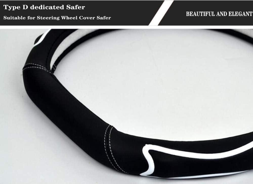 Autozubeh/ör GRX-MAXIOE Leder Lenkradschutz f/ür Auto M/änner und Frauen,White-36cm D-Typ Lenkradabdeckung 36-40cm // Anti-Rutsch-Massage Universal Lenkradbezug