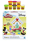 Play-Doh Disney Mickey Mouse Magical Playhouse + Play-Doh Rainbow Starter Pack Bundle