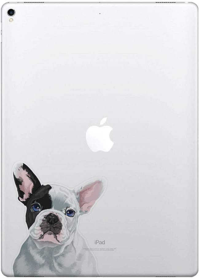 FINCIBO 5 x 5 inch Cute French Bulldog Puppy Dog Eyepatch Removable Vinyl Decal Stickers for iPad MacBook Laptop (Or Any Flat Surface)