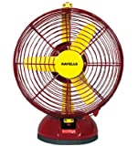 Havells Birdie 230mm Personal Fan (Yellow and Maroon)