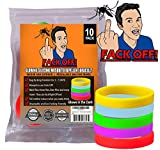 Fack Off Insect / Mosquito Repellent Bracelets (10 Glow in the Dark Silicone)
