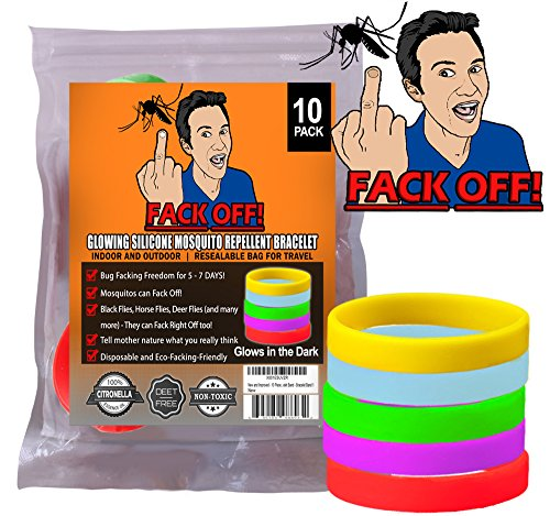 [Fack Off Insect / Bracelets (10, Glow in the Dark Silicone)] (Funny Award Ideas)