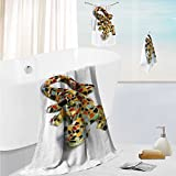 SCOCICI1588 luxury towel setSculpture of Guardian Angel with Sword in the Cemetery of Comillas Cantabria Spain Odor Resistant - Moisture Wicking 19.7''x19.7''-13.8''x27.6''-31.5''x63''