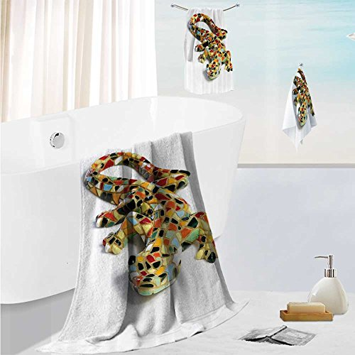 SCOCICI1588 luxury towel setSculpture of Guardian Angel with Sword in the Cemetery of Comillas Cantabria Spain Odor Resistant - Moisture Wicking 19.7''x19.7''-13.8''x27.6''-31.5''x63'' by SCOCICI1588