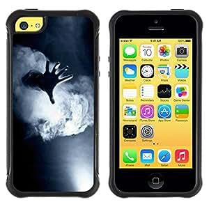 "Pulsar iFace Series Tpu silicona Carcasa Funda Case para Apple iPhone 5C , Niebla Negro Blanco Profundo Significado"""