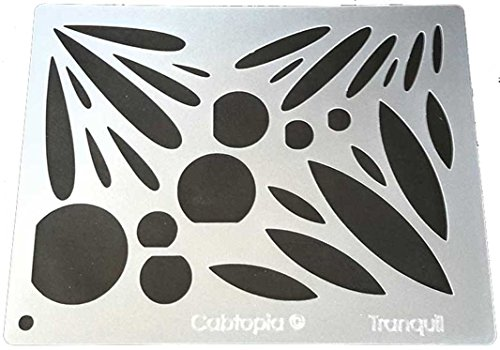 Cabtopia -- Lapidary Jewelry Design Template Stencil ''Tranquil'' by Cabtopia