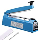 Yescom 8'' 200mm Impulse Manual Hand Sealer Heat Sealing Machine Poly Tubing Plastic Bag