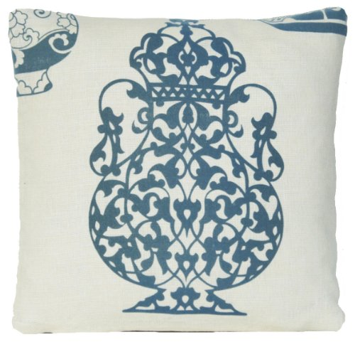 Blue Vase Décor Pillow Case Asian Style Cushion Cover Lorca Collection Ming 14