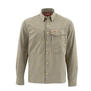 e0e43b301 Simms Guide LS Shirt Solid Dark Khaki: Amazon.co.uk: Sports & Outdoors