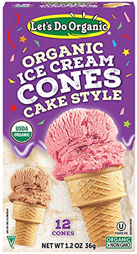 (Let's Do...Organic Ice Cream Cones, 12 Count Boxes (Pack of 12))