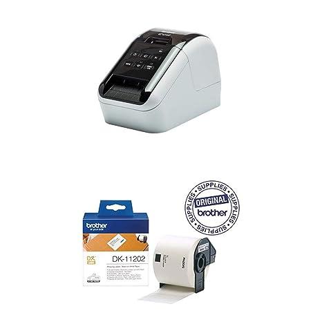 Brother QL810W - Impresora de Etiquetas + Brother DK11202 ...
