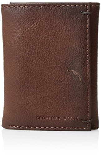 (Geoffrey Beene Men's Stitched Burnished Rid Blocking Trifold Wallet, Tan, One Size )