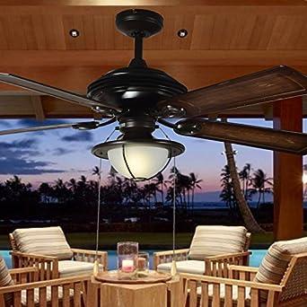 Jardín con luz Ventilador de techo exterior impermeable ...
