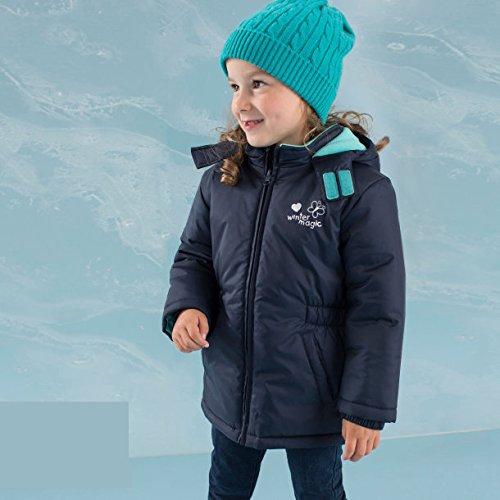 Kleinkinder Mädchen Winterjacke 74/80 dunkelblau Schneejacke