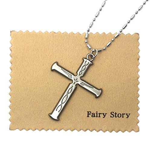 【Fairy Story】 ギルティクラウン (GUILTY CROWN) GC 恙神 涯 (つつがみ がい) モチーフ コスプレ 十字架 クロス ネックレス シルバー 【クロス&箱あり】
