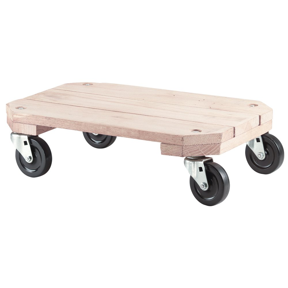 Shepherd Hardware 9854 Solid Wood Plant Dolly, 12-Inch x 18-Inch, 360-lb Load Capacity
