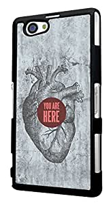 330 - Heart You Are Here Design For Sony Xperia Z4 Compact Fashion Trend CASE Back COVER Plastic&Thin Metal