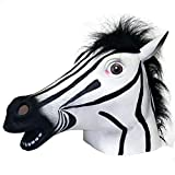 Ace Martial Arts Supply Zebra Mask : Latex Animal Mask