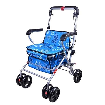 Andador con asiento, andador de movilidad plegable Andador ...