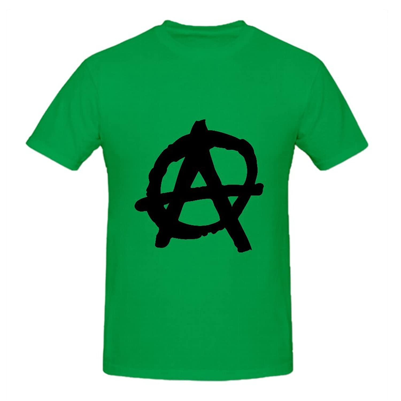 KARLEE Anarchy symbol Circle Ink Brush Style Custom O-Neck Male T shirts