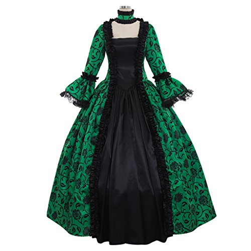1791's lady Women's Victorian Rococo Dress Inspiration Maiden Costume NQ0032 (XXXL:Height68-70 Chest50-52 Waist43-45, (Seventies Costume Patterns)