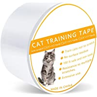 Cat Scratch Tape, Anti Cat Scratching Deterrent Tape, Cat Pet Scratch Protection Tapes - Stop Cat Claws from Scratching Couch,Corners of Chair,Door Frame, Counter Tops and Carpet - L/M/S Sizes