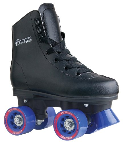 Chicago Boys Rink Skate (Size J13), Black - Black Roller Skates