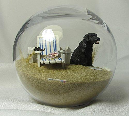Beachball Sandglobe Puppy Dog Sphere, 4 Inch Diameter, Black Lab