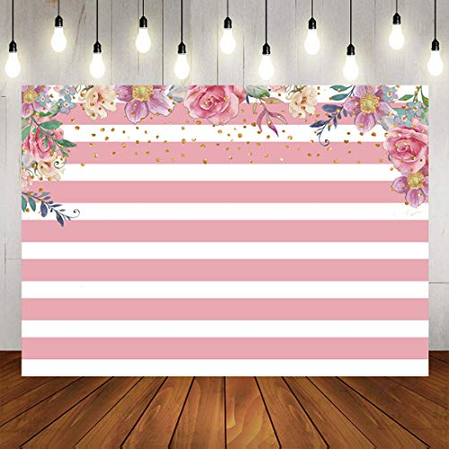 Botong Pink Girl Baptism Tea Party Christening Floral Birthday God Bless Backdrop Birthday Party Cake Table Photography Background Girls Lady Kids Adult Happy Birthday Carnival Party Photo