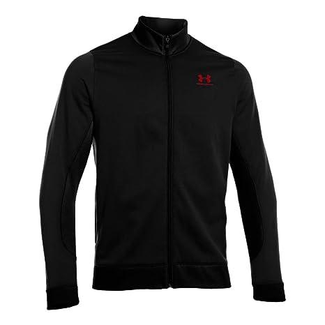 Para hombre UNDER ARMOUR Fleece Storm chaqueta color negro/rojo ...